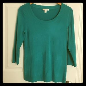 New York and Co aqua/teal sweater